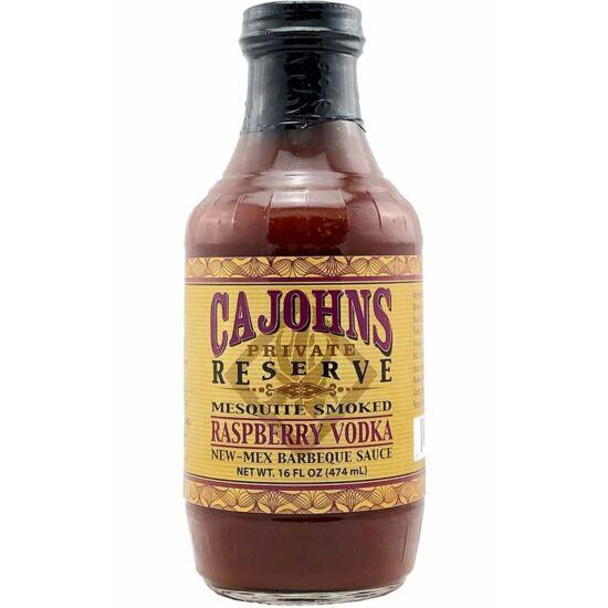 Cajohn's Mesquite Smoked Raspberry Vodka New Mex BBQ szósz 473ml