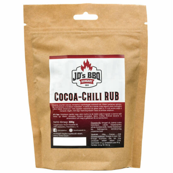 JD's Cocoa-Chili Rub 100g