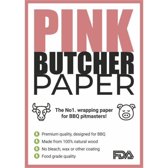Pink Butcher húscsomagoló hentespapír