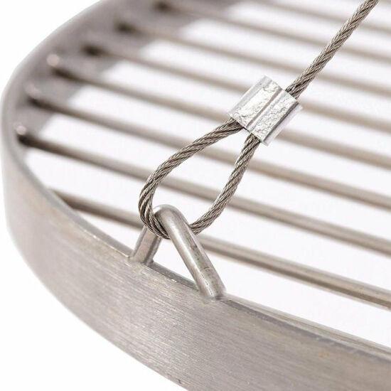 Rozsdamentes acél grillrács 60cm függeszthető