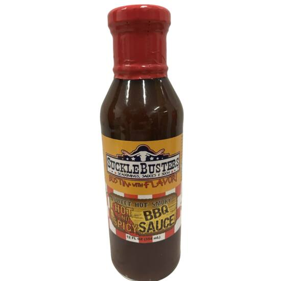 Suckle Busters Hot and Spicy BBQ szósz 354ml