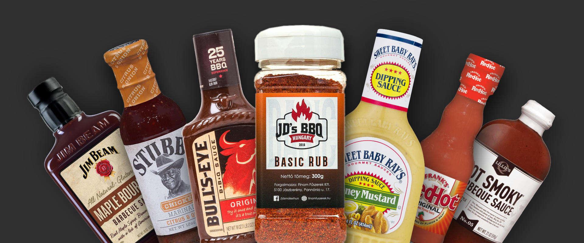 BBQ fűszerek és szószok